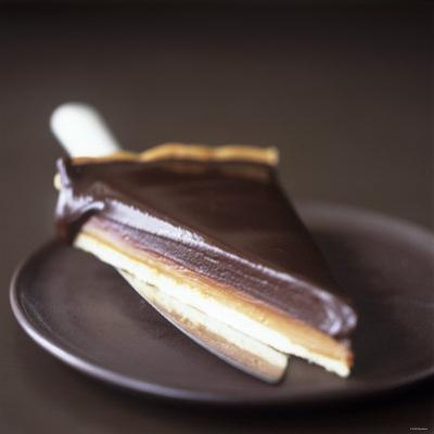 A Piece of Chocolate Caramel Tart by Michael Paul