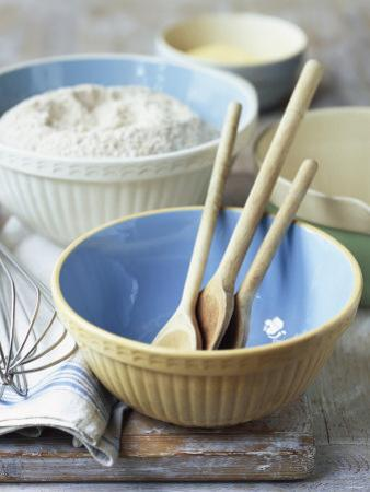 Baking Bowls, Jug, Wooden Spoons, Whisk by Michael Paul