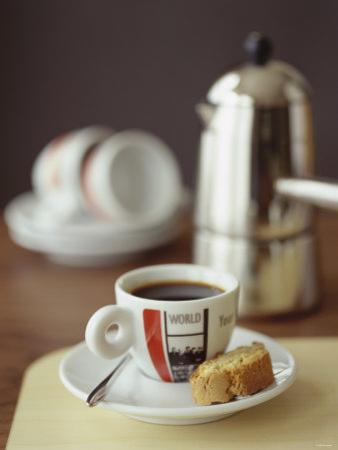 Espresso with Biscotti by Michael Paul