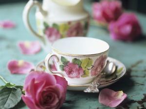 Rose-Patterned Tea Things by Michael Paul