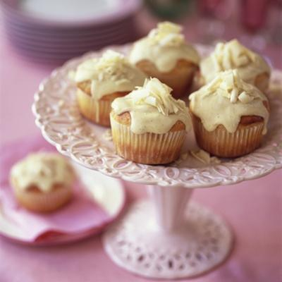 White Chocolate Muffins on Cake Stand by Michael Paul