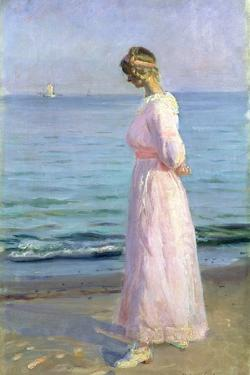 Girl in a Pink Dress, 1914 by Michael Peter Ancher