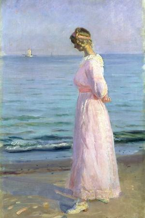 Girl in a Pink Dress, 1914