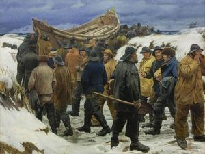 The Lifeboat is Taken through the Dunes, 1883 by Michael Peter Ancher