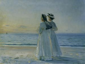 Two Women on the Beach at Skagen, 1908 by Michael Peter Ancher