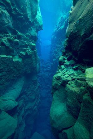 Silfra Canyon, Between The Eurasian And American Tectonic Plates, Thingvellir National Park Iceland by Michael Pitts