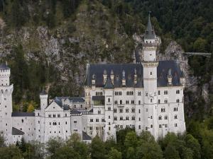 Aerial View of Neuschwanstein Castle Built by King Ludwig I by Michael Polzia