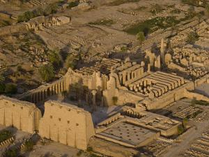 Aerial View of the Large Temple Complex at Karnak by Michael Polzia