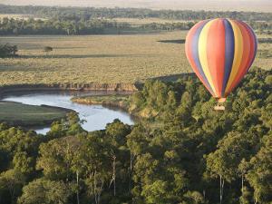 Hot Air Balloon over the Mara by Michael Polzia