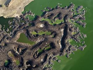 Land Formations Along the Shore of Lake Turkana by Michael Polzia