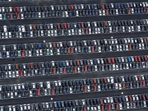 Parked VW Cars at the Wolfsburg Manufacturing Plant by Michael Polzia