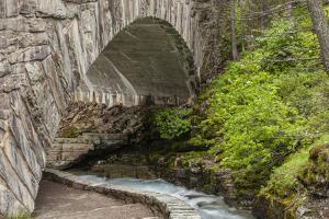 Ccc Bridge over Barring Creek, Sun Rift Gorge Pullout, Glacier NP by Michael Qualls