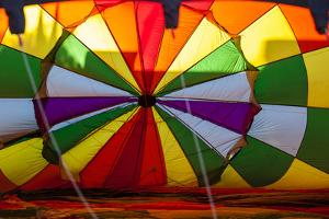 Lake Havasu Balloon Festival. Filling the Envelope of a Hot Air Balloon by Michael Qualls