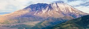 Panorama of Mount St. Helens Showing the Blowout by Michael Qualls