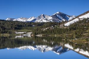 Yosemite National Park. the Kuna Crest and Mammoth Reflections in Tioga Lake by Michael Qualls