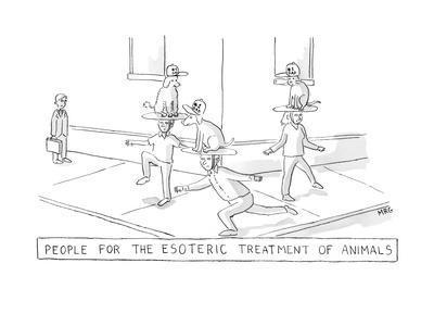esoteric treatment - New Yorker Cartoon