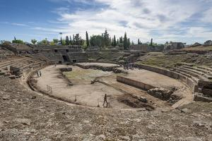 Roman Amphitheater, Merida, Badajoz, Extremadura, Spain, Europe by Michael