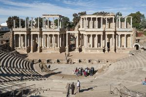 Roman Theater, Merida, UNESCO World Heritage Site, Badajoz, Extremadura, Spain, Europe by Michael