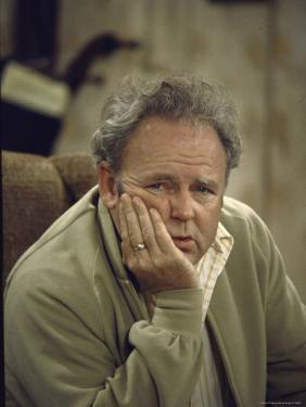 Carroll O'Connor Posing as Archie Bunker in TV Series All in the Family by Michael Rougier