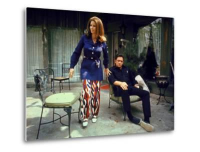 Country Western Singer Johnny Cash and Wife June Carter at Home by Michael Rougier
