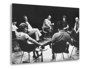 Dr. Carl Rogers During Group Therapy Session by Michael Rougier