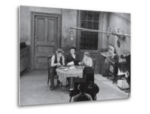"Jackie Gleason, Art Carney and Audrey Meadows in Cramden Apartment, Eating, on ""The Honeymooners"" by Michael Rougier"