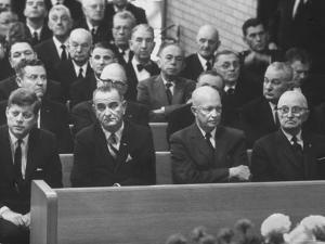 John F. Kennedy at Samuel Rayburn's Funeral by Michael Rougier