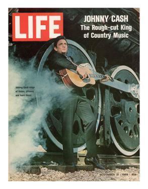 Singer Johnny Cash, November 21, 1969 by Michael Rougier