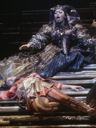 """Singer Leontyne Price in Opera """"Antony and Cleopatra"""" at the Opening of the New Metropolitan Opera"""