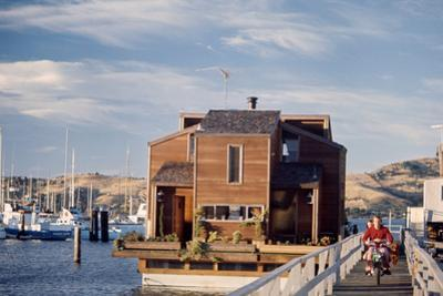 Two-Story, Wooden Floating Home, Sausalito, California, 1971