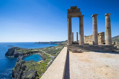 Acropolis of Lindos, Rhodes, Dodecanese Islands, Greek Islands, Greece, Europe by Michael Runkel