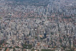 Aerial of Sao Paulo, Brazil, South America by Michael Runkel