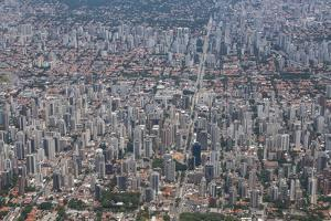 Aerial of Sao Paulo, Brazil, South America by Michael Runkel