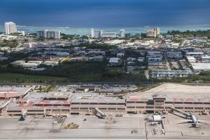 Aerial of the Airport of Guam, Us Territory, Central Pacific, Pacific by Michael Runkel