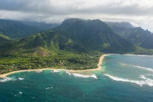 Aerial of the North Shore of the Island of Kauai, Hawaii, United States of America, Pacific by Michael Runkel