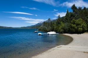 Beach on a Mountain Lake in Los Alerces National Park, Chubut, Patagonia, Argentina, South America by Michael Runkel
