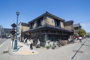 Beautiful historical buildings in Sakaimachi street, Otaru, Hokkaido, Japan, Asia by Michael Runkel
