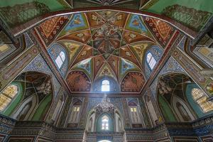 Beautiful interior of the Mausoleum of Mirwais Khan Hotaki, Kandahar, Afghanistan by Michael Runkel