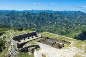 Beautiful mountains around the Citadelle Laferriere, UNESCO World Heritage, Cap Haitien, Haiti by Michael Runkel