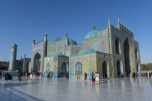 Blue Mosque, Mazar-E-Sharif, Afghanistan by Michael Runkel