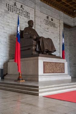 Chiang Kai-Shek Statue in the Chiang Kai-Shek Memorial Hall, Taipei, Taiwan, Asia by Michael Runkel