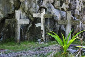 Christian Cross, Matinioc Shrine, Bacuit Archipelago, Palawan, Philippines by Michael Runkel