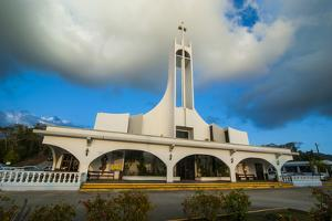 Church at Sunset on Saipan, Northern Marianas, Central Pacific, Pacific by Michael Runkel
