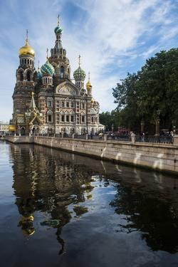Church of the Saviour on Spilled Blood, UNESCO World Heritage Site, St. Petersburg, Russia, Europe by Michael Runkel