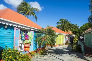Colourful souvenir shops in Roadtown, Tortola, British Virgin Islands, West Indies, Caribbean, Cent by Michael Runkel