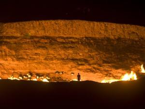 Darvaza Gas Crater, Turkmenistan, Central Asia, Asia by Michael Runkel