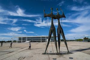 Dois Candangos (The Warriors), Monument of Builders of Brasilia, Brazil, South America by Michael Runkel