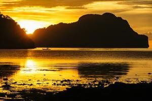 Dramatic Sunset Light over the Bay of El Nido, Bacuit Archipelago, Palawan, Philippines by Michael Runkel