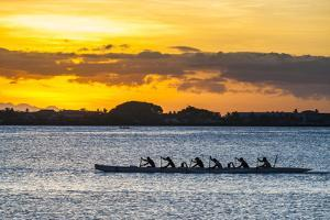 Evening Rowing in the Bay of Apia, Upolu, Samoa, South Pacific, Pacific by Michael Runkel