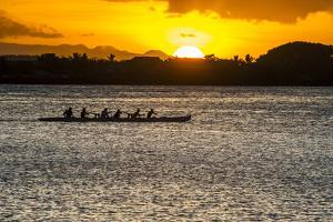 Evening Rowing in the Bay of Apia, Upolu, Samoa, South Pacific by Michael Runkel